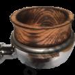 Égetett, antikolt tölgyfa kávébetöltő tölcsér 58 mm-es szűrőhöz