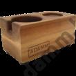 Tamper állvány fekete diófából 58 mm-es portafilterhez- tamper station