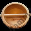 Fenyőből, kézzel készült fa Knock box