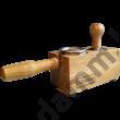 Tamper állvány tölgyfából 58 mm-es portafilterhez- tamper station