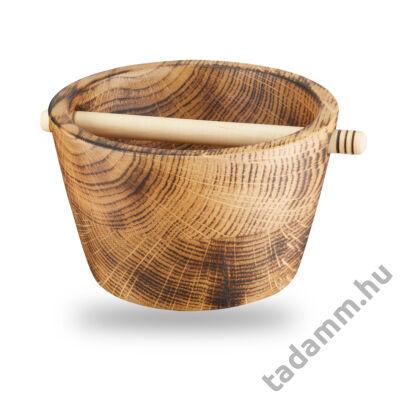 Égetett, antikolt tölgyfából, kézzel készült fa Knock box