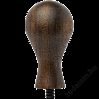 Gőzölt diófa egyedi, különleges kialakítású kávétömörítő fa nyél