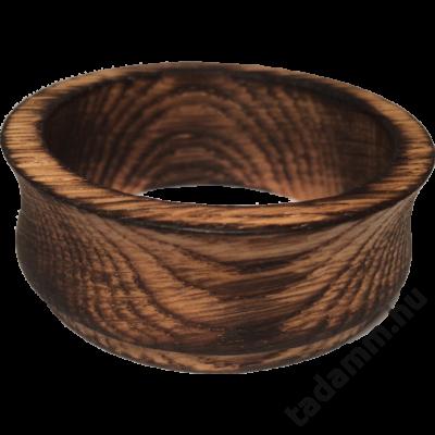 Égetett, antikolt tölgyfa kávébetöltő tölcsér 49 mm-es szűrőhöz