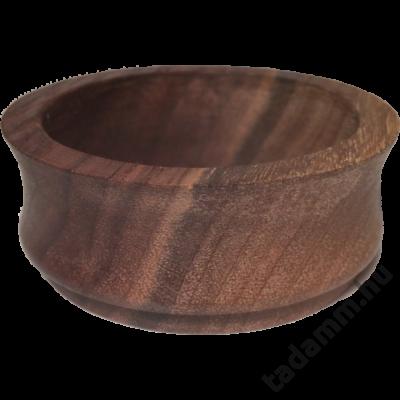 Fekete diófából készült kávébetöltő tölcsér 58 mm -es szűrőhöz